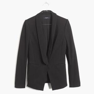 Madewell Black Duskfall Drape Front Blazer Jacket